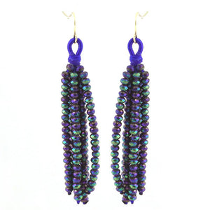 Crystal Fringe Stmt Earrings