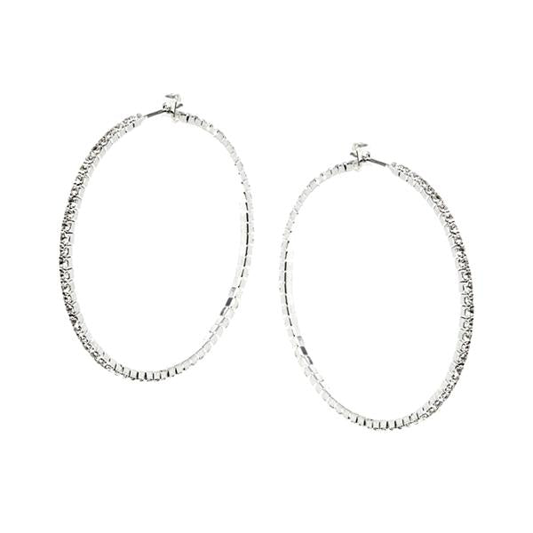 Dainty Diamond Hoop Earrings