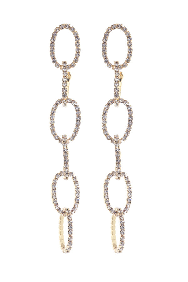 Diamond Link Statement Earrings