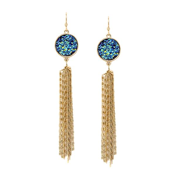 Druze & Fringe Stmt Earrings