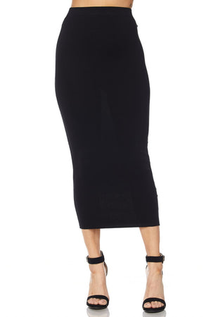 Body Contour Midi Knit Skirt