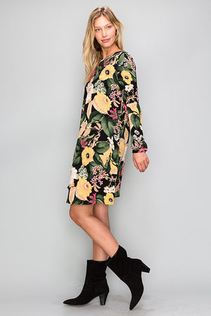 Fall Florals Shift Dress