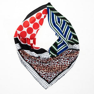 Mixed Prints Silky Scarf