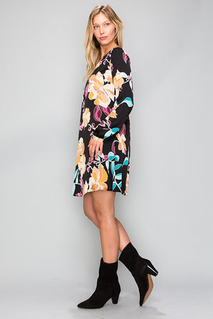 Painted Florals Shift Dress