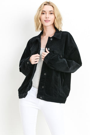 Oversized Cord Boyfriend Jacket