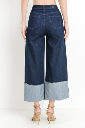 Wide Leg Super Cuff Trouser