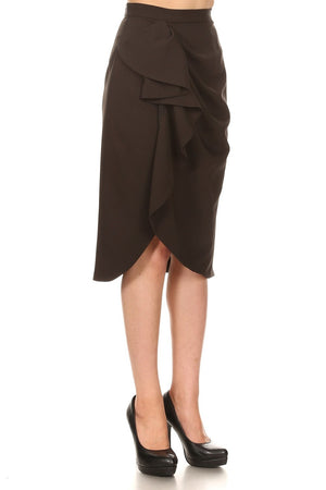 Side Ruffle Skirt