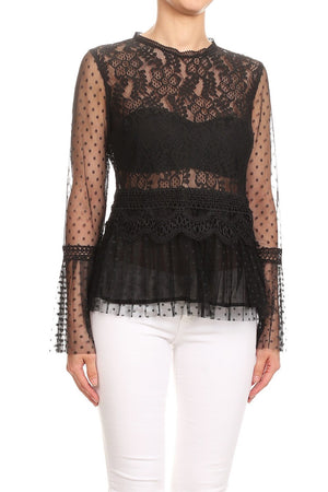 Tulle & Lace Blouse