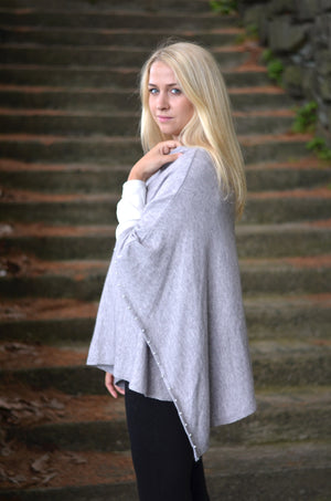 Pearl Lined Poncho Scarf