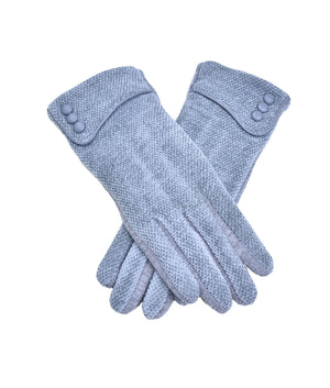 CHENILLE THREE BUTTON TEXTING GLOVE