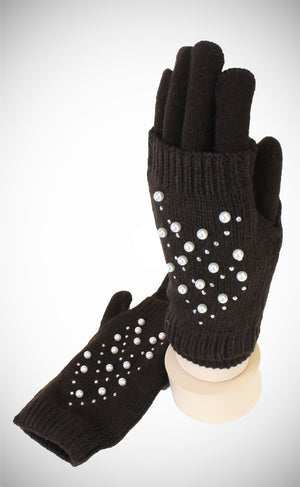 PEARL 2 PCS GLOVES FINGERLESS PLUS SOLID GLOVES