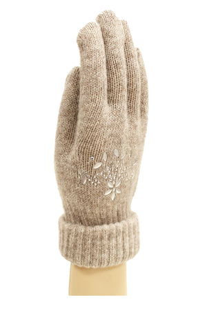 FLOWER EMBELLISHED GLOVE