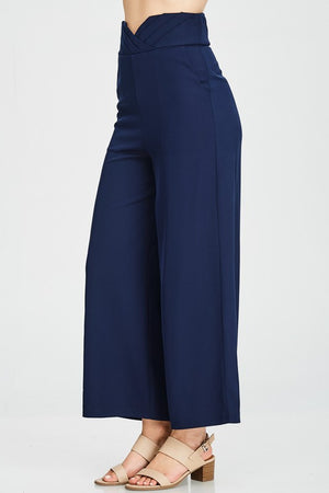 Pleated V Highwaist Trouser
