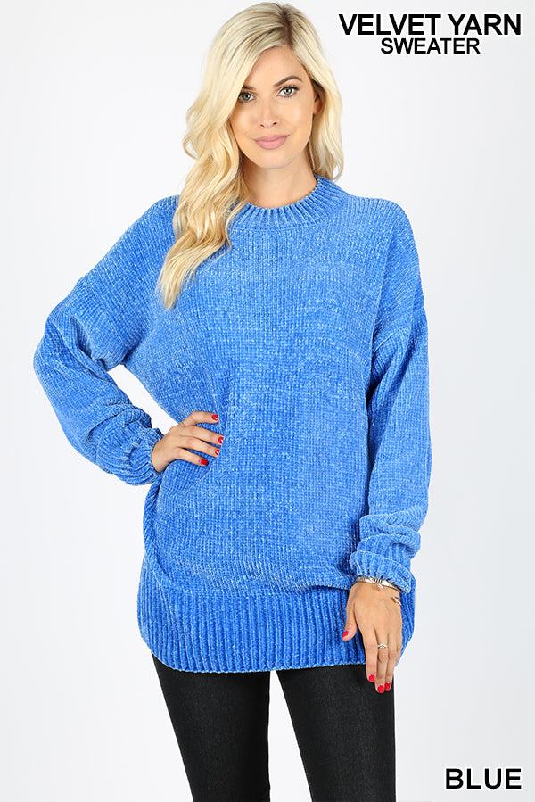 Super Soft Velvet Knit Sweater