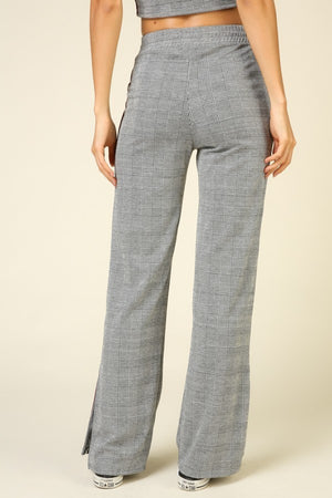 Glen Plaid Drawstring Pants