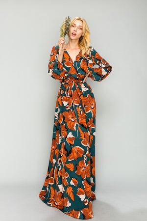 Watercolor Florals Maxi Dress