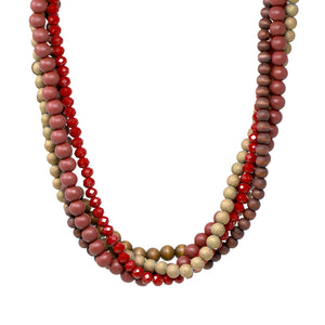 Layered Beaded Twist Necklace