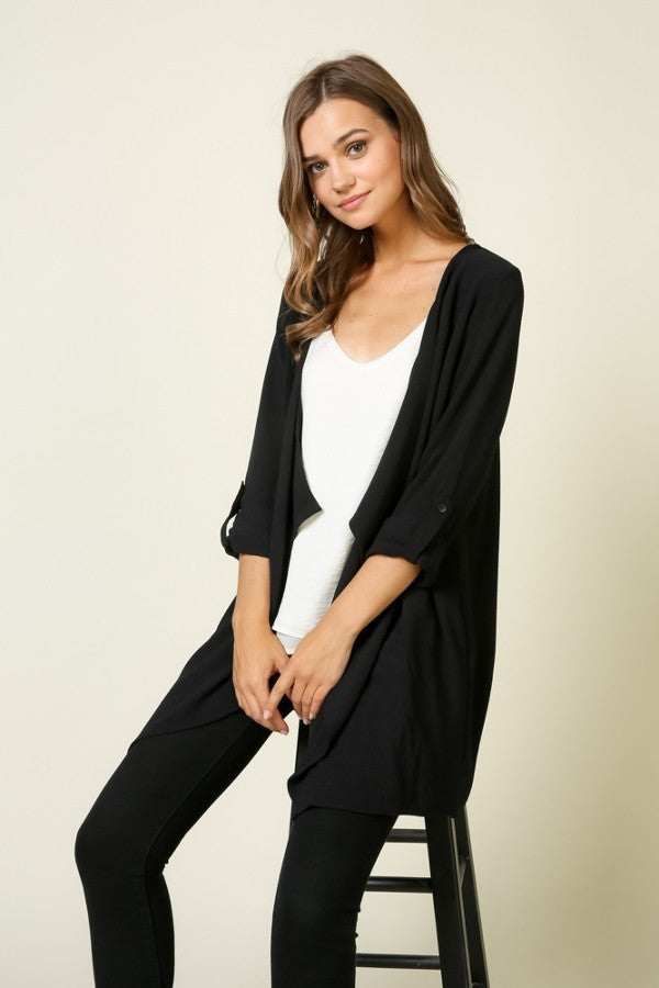 Crepe Duster Jacket