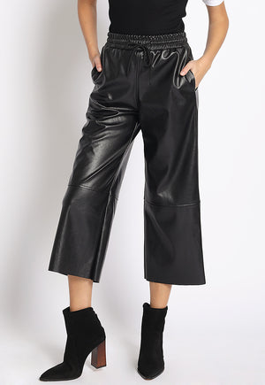 Faux Leather Cropped Pant