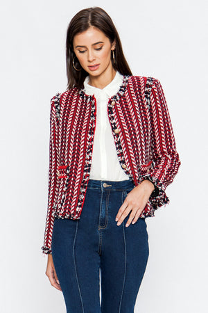 HERRINGBONE TWEED JACKET