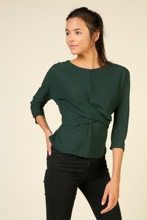 Twist Front Tie Back Blouse