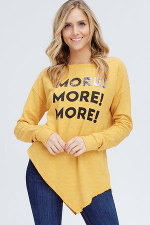 Off The Shoulder Graphic Sweatshirt