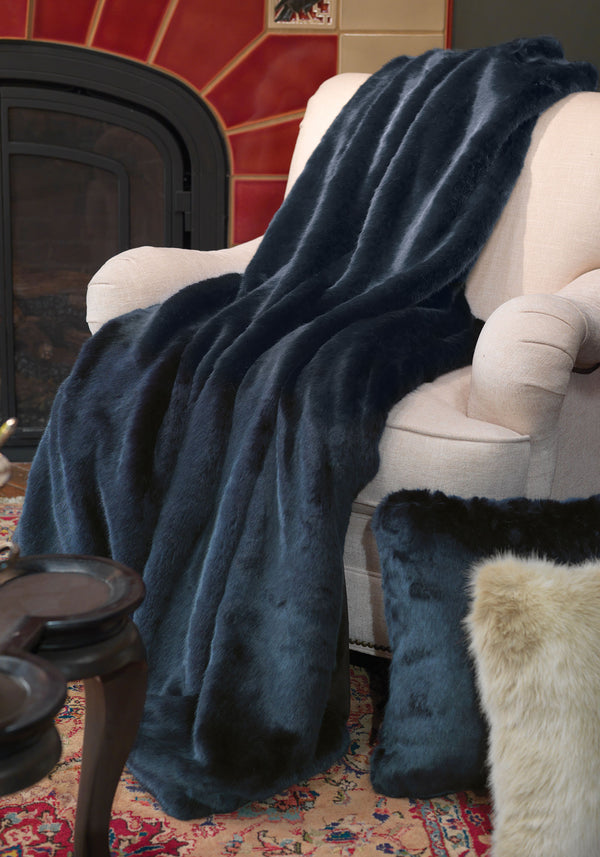 Couture Faux Fur Throw Blanket