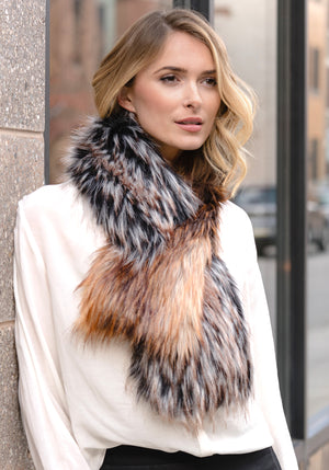 Two Tone Pull Through Scarf