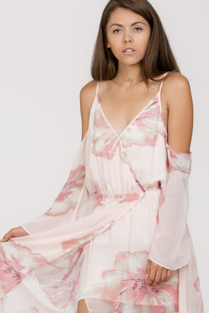 Romantic Cross Top Maxi Dress