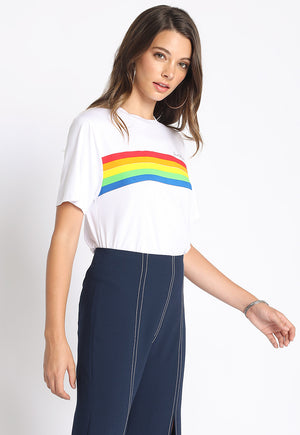 Good Vibes Rainbow Tee