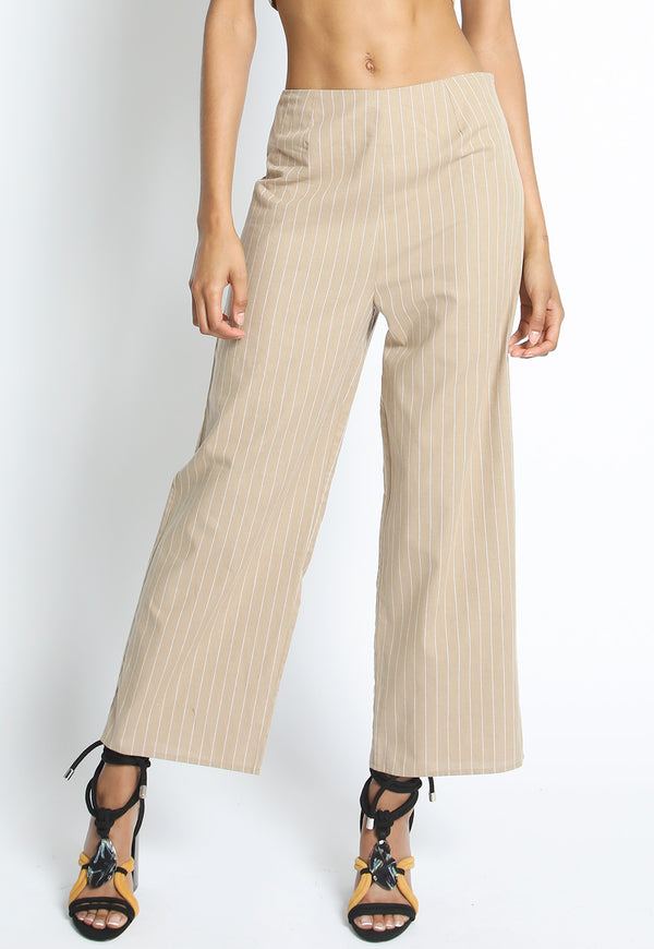 Pin Stripe Wide Leg Pant