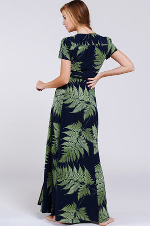 Palms Wrap Maxi Dress