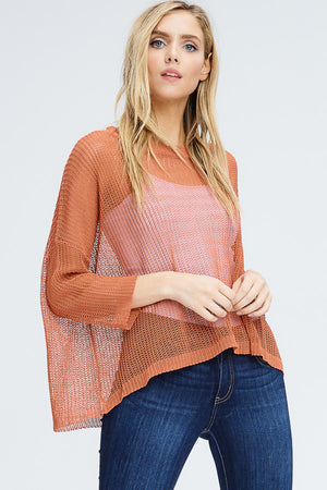 Open Knit Swing Sweater