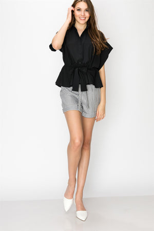 Button Down Poncho Shirt