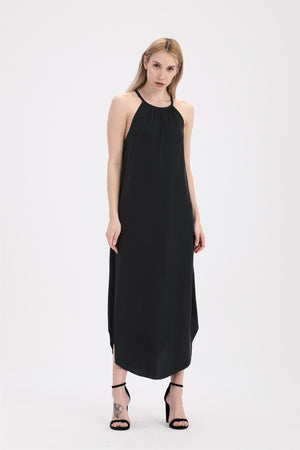 Rouched Halter Maxi Dress