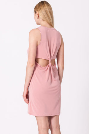 Twisted Knot Back Tank Dress