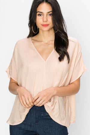 V Neck Twist Front Top