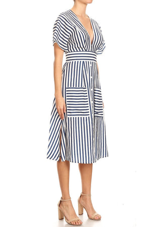 Candy Stiper Midi Dress