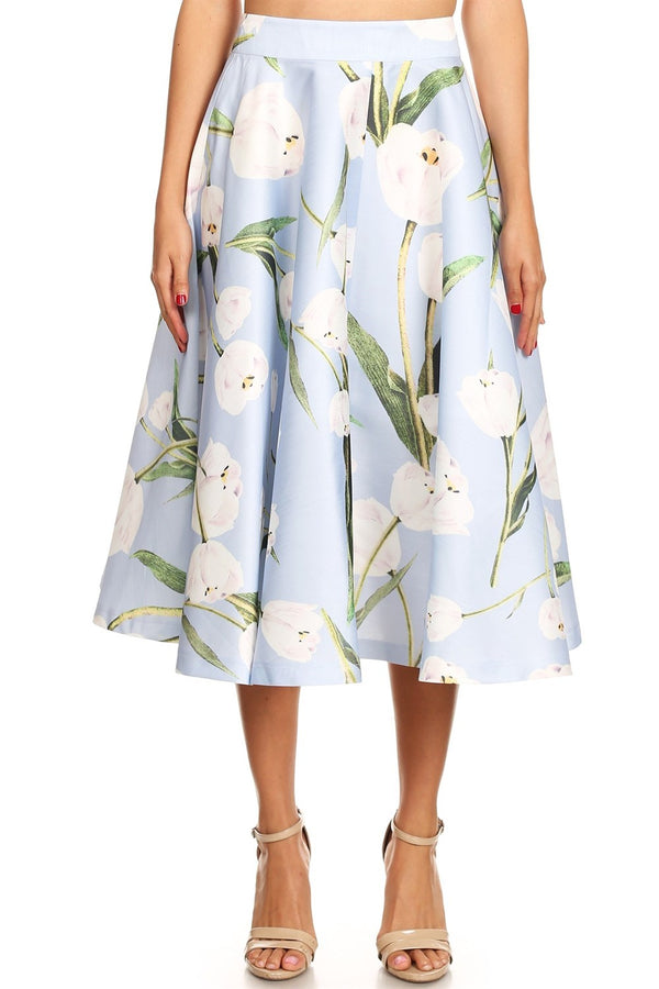 Fit & Flare Tulips Skirt