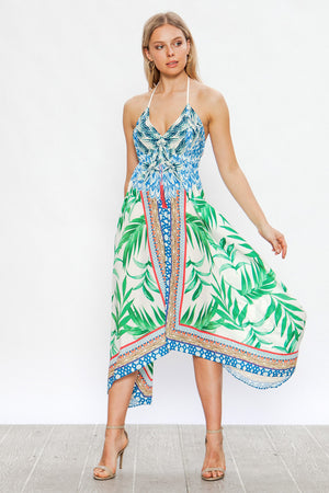 Halter Hankerchief Dress