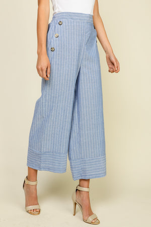 Highwaist Gaucho Pant With Buttons