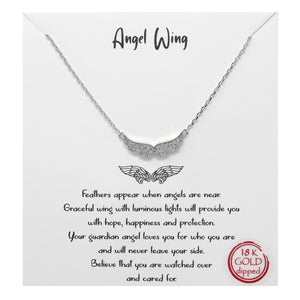Angel Wings Carded Necklace
