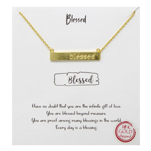 Blessed Carded Necklace