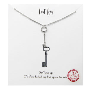 Last Key Carded Necklace