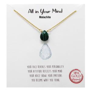 Malachite Carded Necklace