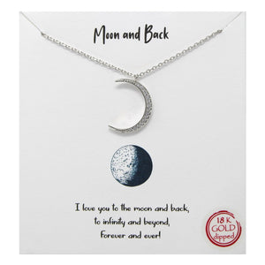 Moon & Back Carded Necklace