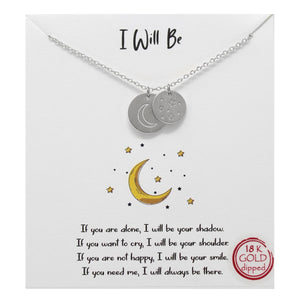 Moon & Stars Carded Necklace