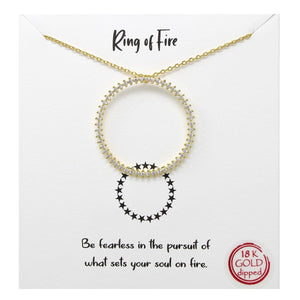 Ring Of Fire Carded Necklace