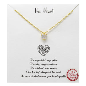 The Heart Carded Necklace