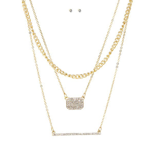 Triple Layer Chains Necklace